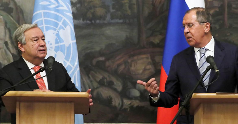 Сергей Лавров и Антониу Гутерриш