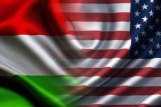 Флаги Венгрии и США